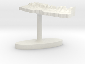 Nepal Terrain Cufflink - Plate in White Natural Versatile Plastic