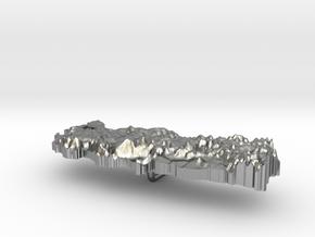 Turkey Terrain Silver Pendant in Natural Silver