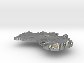 Australia  Terrain Silver Pendant in Raw Silver