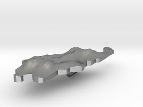 Palau Terrain Silver Pendant in Natural Silver