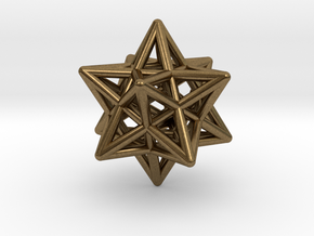 Stellated Dodecahedron Pendant in Natural Bronze
