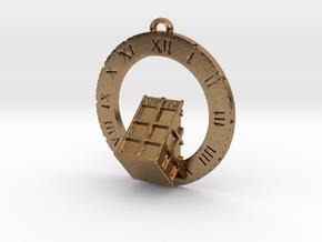 TARDIS Angled Bottom Half - Pendant in Natural Brass