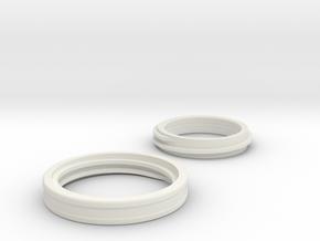 interlock ring in White Natural Versatile Plastic