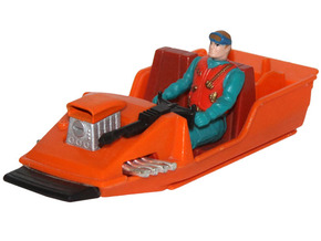 M.A.S.K. Gator Speedboat Engine Block in Orange Strong & Flexible Polished
