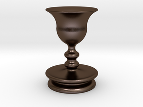 Vase in Polished Bronze Steel