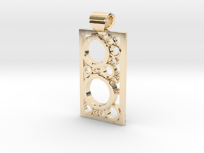 Encased Rings Pendant in 14K Yellow Gold