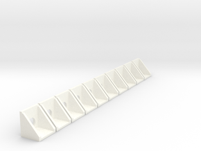 10 Precast Culvert Walls in White Processed Versatile Plastic