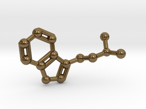 DMT (N,N-Dimethyltryptamine) Keychain Necklace in Natural Bronze