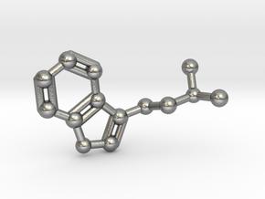 DMT (N,N-Dimethyltryptamine) Keychain Necklace in Natural Silver