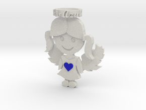 Pendant Full Color Sandstone Blue Angel Girl in Full Color Sandstone