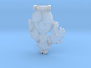 Pendant Blue Angel Girl Frozen Detail in Smooth Fine Detail Plastic