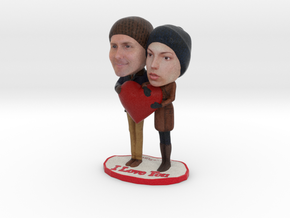 Valentine's Day CUSTOM Figurines - 3d Your Love in Full Color Sandstone