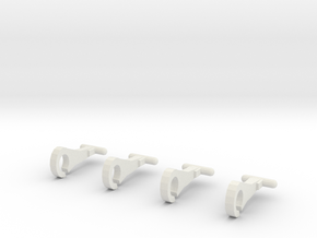 Thomas train hooks (set of 4) in White Strong & Flexible