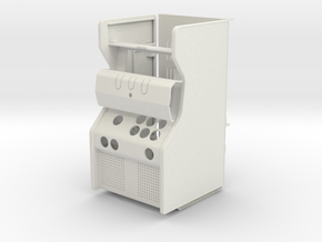 Micro arcade cabinet in White Natural Versatile Plastic