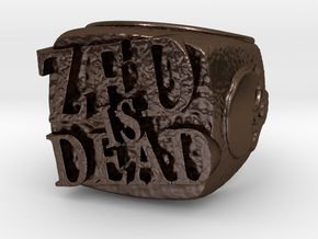 Zed is Dead Ring in Polished Bronze Steel