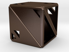 Dice122 in Polished Bronze Steel