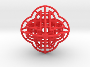 Fractal 113 in Red Strong & Flexible Polished