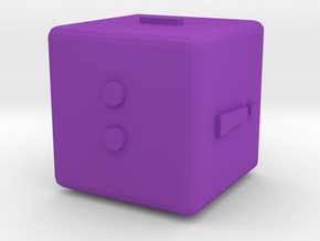 Dice121-alphabet in Purple Processed Versatile Plastic