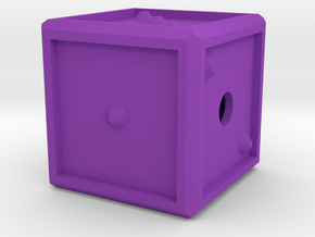 Dice123 in Purple Processed Versatile Plastic