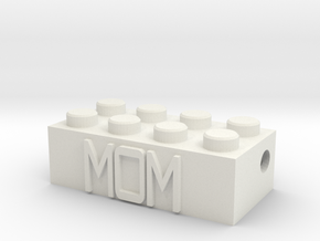 MOM in White Natural Versatile Plastic