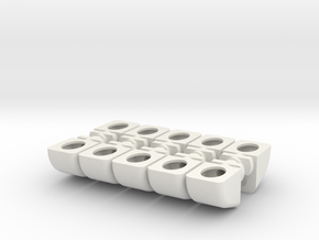 Steun Blokje Keuken Set in White Natural Versatile Plastic