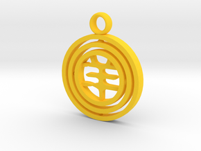 CheekyChi - Gimbal Charm (羊) in Yellow Processed Versatile Plastic