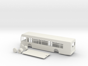 HO scale van hool a330 bus in White Natural Versatile Plastic