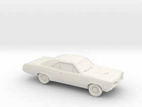 1/87 1967 Pontiac GTO  in White Natural Versatile Plastic