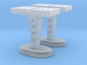 Domino Cufflinks in Smooth Fine Detail Plastic