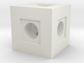 Basic Block in White Natural Versatile Plastic