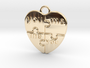 You And Me in 14K Yellow Gold