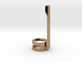 Pen Clip for Your 12mm Stylus in Polished Brass