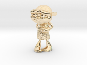 Gus Figurine - Small - Precious Metal in 14K Yellow Gold