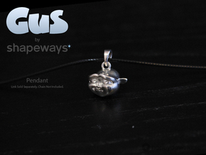 Gus Pendant in Polished Silver