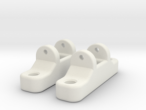 LagerbockVorne ObenSTL in White Natural Versatile Plastic