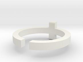 (USA) 10-1/2 Cross - Multiple Sizes in White Natural Versatile Plastic