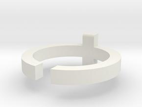 (USA) 7 Cross - Multiple Sizes in White Natural Versatile Plastic