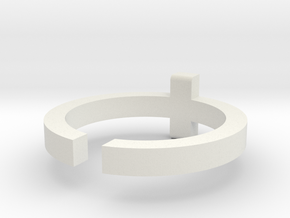 (USA) 9-1/2 Cross  - Multiple Sizes in White Natural Versatile Plastic