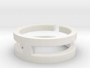 (USA) 12 Void Cross - Multiple Sizes  in White Natural Versatile Plastic
