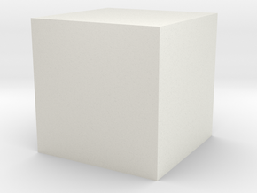 1cc Cube in White Strong & Flexible