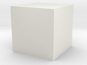 1cc Cube in White Natural Versatile Plastic