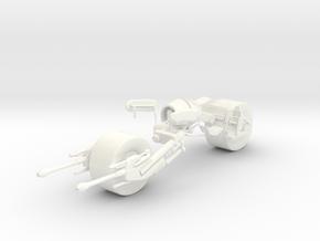 Batpod Scale Model  in White Processed Versatile Plastic