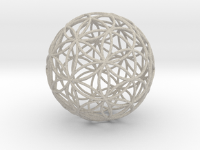 3D 200mm Orb of life (3D Flower of Life)  in Natural Sandstone