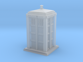 28mm/32mm scale Police Box in Smooth Fine Detail Plastic