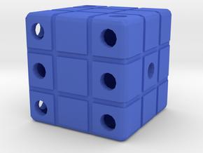 Dice129 in Blue Processed Versatile Plastic
