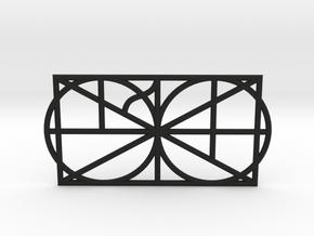 A Monogram Of The Alphabet Pendant  in Black Natural Versatile Plastic