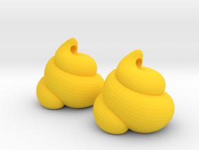 Lucky Golden Poo Earrings in Yellow Processed Versatile Plastic