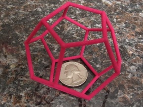 Dodecahedron (100 cc) in Pink Processed Versatile Plastic