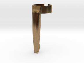 Penclip for 15mm diameter pen in Natural Brass