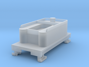 Small 8 wheel Tender for HOn30 F&C loco (no trucks in Smooth Fine Detail Plastic